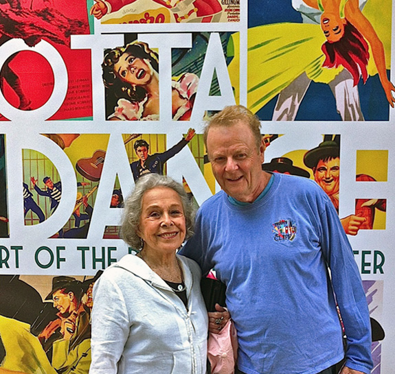 Mike Kaplan with Marge Champion